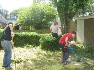 het opknappen van de tuin