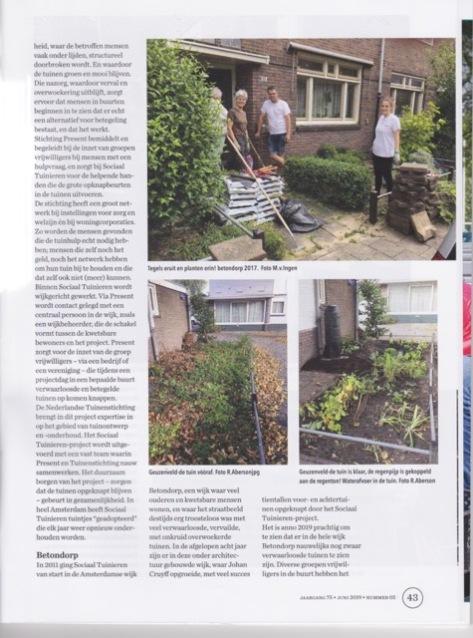 Artikel Sociaal Tuinieren in special GROEN 3