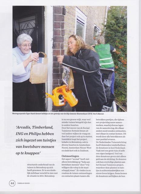 Artikel Sociaal Tuinieren in special GROEN 4