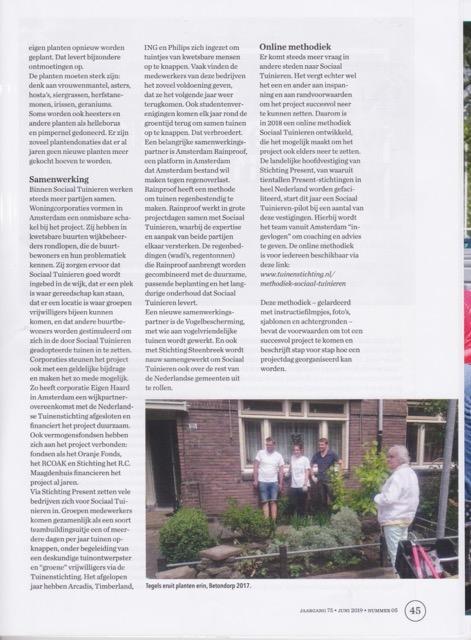 Artikel Sociaal Tuinieren in special GROEN 5