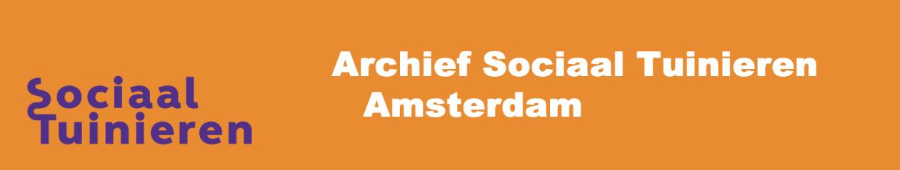 Archief Sociaal Tuinieren